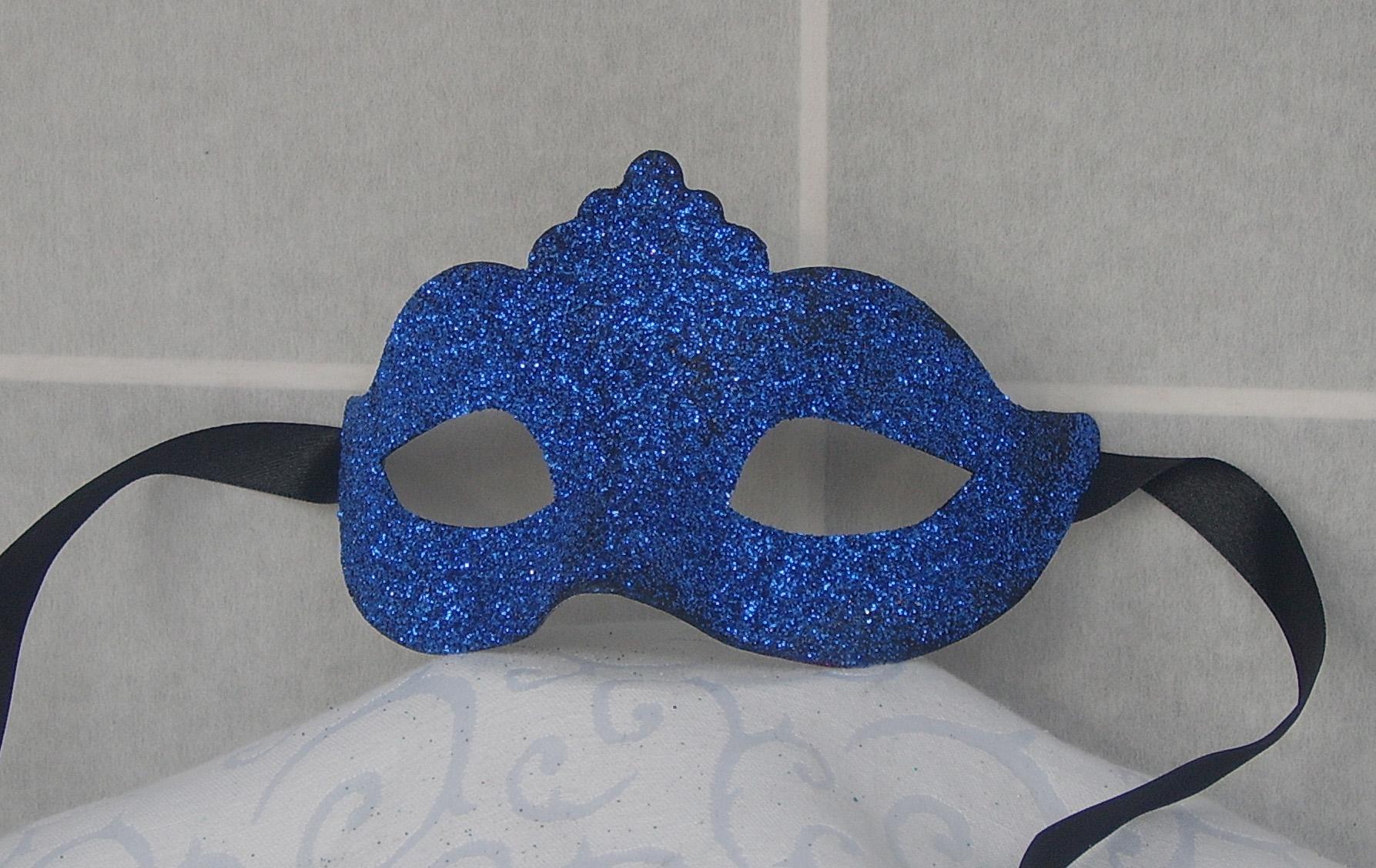 Venezianische Colombina-Maske mit Glitter für Kinder